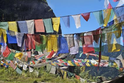 Bhutan, prayer flags